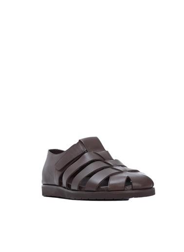 Kemal Tanca Kemal Tanca Erkek Derı Sandalet Sandalet Kahve